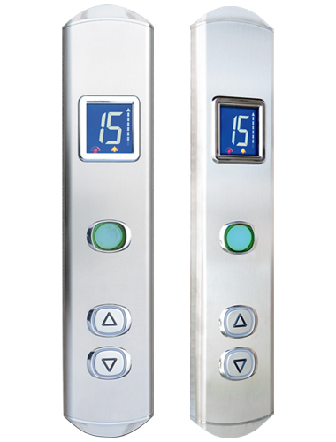 Bottoniere per ascensori superflat igv group for Piani di cabina contemporanei