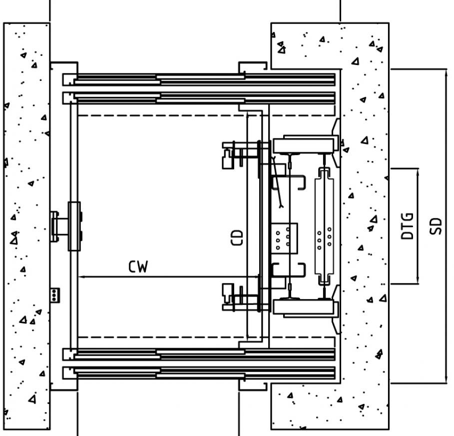 Ascensore mrl gearless ar slim igv group for Ascensore dimensioni