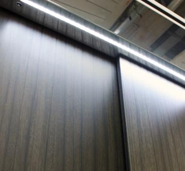 Illuminazione porte a LED integrata per DomusLift